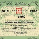 S79K - CQWW Certificate
